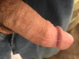 He sends me this with precum on his dick after me sending him pics teasing him