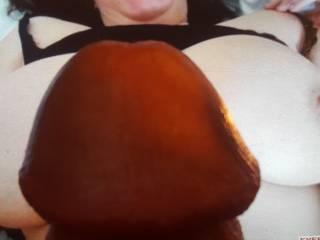 Cock on beautiful tits