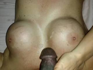 Hand jobs are awesome!!! Cummin on a great pair of tits.... Priceless!!!
