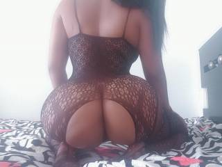 Lingerie showing her fat ass, I\'m the lucky one that gets to fuck her.