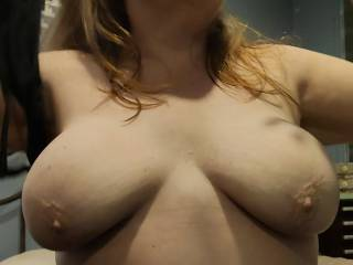 You make my nipples hard... Better take my bra off to relieve the pressure. I want you to cum, just from you feeling, touching, and biting my nipples. This cumslut needs you to cover them now!