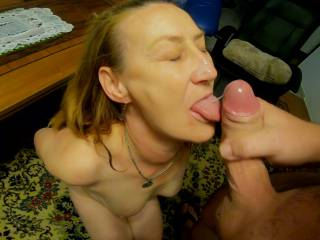 fuck that incredible face and cum on her, she must learn to take it on her tongue