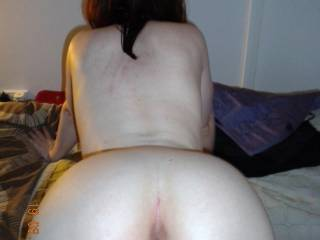 mmmmmm ... I wanna kiss and lick your sexy arse then lick your pussy till you're dripping into my mouth then slide my cock in and fuck you from behind and fill your sexy little arsehole with hot thick spunk xxx