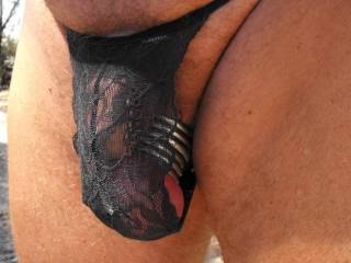 how about a little black lacy g-string?