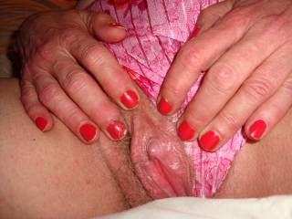mm how i so love to flick my tongue over your stiff clitty