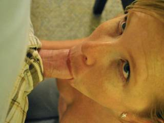 having fun sucking hubbys cock