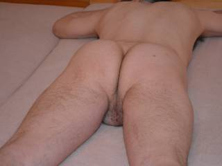 I'd like to spread your cheeks and slide my cock up your ass.