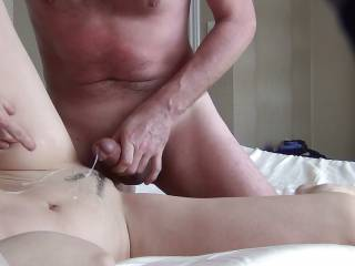 the most delicious cum is the mixture of his and yours leaking out of your beautiful wet pussy...preferable dripping on my tongue