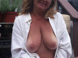 You know I love your magnificent tits...they are so perfectly shaped and sized and they are naturally that way!!  One of my favorite things I love to see are your tan lines that barely cover your gorgeous aerolas, that is soooo fucking hot to me!!!!