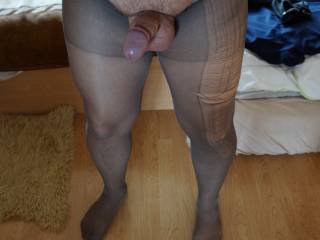 Found wife\'s stockings and made some photos