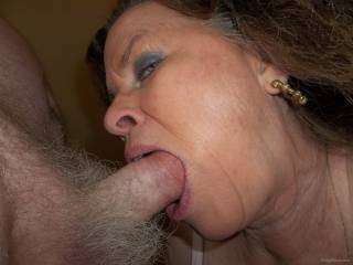 neighbor Susie gets a cheek full