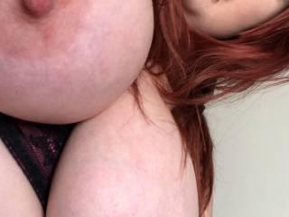 Showing my big tits