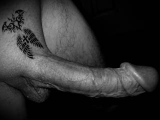 Temporary tattoo in Black and white