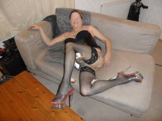 Hi all hope you like my stockings  dirty comments welcome mature couple