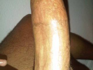 the side of my thick cock
