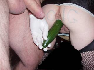 very very nice i filled her pussy with cum and it slid right in veggie nice fit