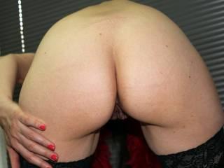sexy ass, love your pussy peaking out