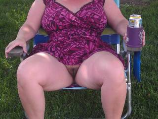 We were at a party today it was hot and humid, I went commando in a sundress. I seen a cute 21 year old guy. hubby bet me to pull up my dress a little and when he walked by to start a conversation with him. I did and he could not stop looking and talking.