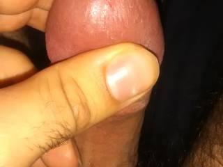enjoying rubbing my dick