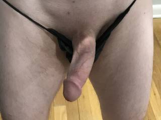 Not sure my skimpy black panties are doing much.....