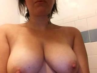 Wifes tits what do you think ?