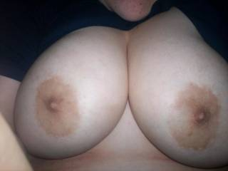 would love to slide my hard cock between these gorgeoes breasts mmm love the tasty nipples