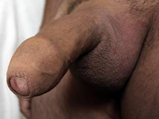 Shaved cock uncut