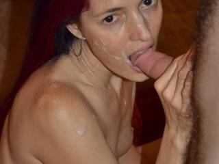 mhhh..Sarah! let's suck my cock as soon as possible..smile..mhhh..and you will get a huge cum-present to the end!