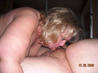 Hell yea love seeing mrs daytonohfun take your cock deep down her throat, she looks dam good at it!