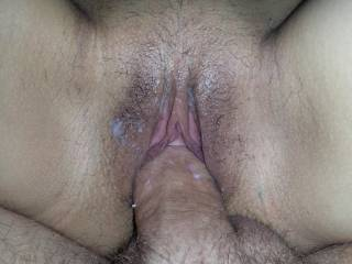 Luv juicy mess!  Gorgeous cock filled pussy!