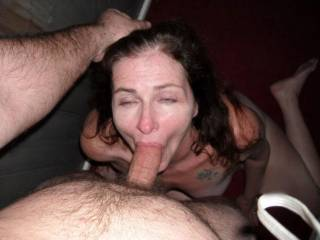 My Wife like to get a mouth full of cock