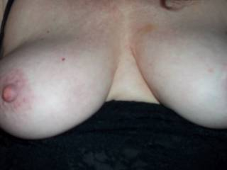 Soft tits of my wife