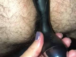 So my wild wife wanted to stick her toy in my ass.. damn that felt amazing!!