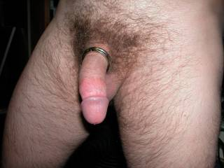 I'm a great fan of cock rings, as well.  I like to slide them on behind my balls.