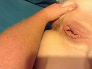 MMMMMM i hope you stick your tongue in it !! Yummy pussy !!