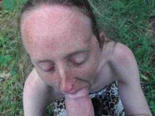 My yes love the way she stuffs your fat cock in her stretched mouth..... ;)