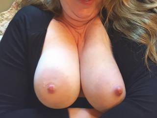 I\'ve got a great view of my big pillowy breasts... would you like a closer view?