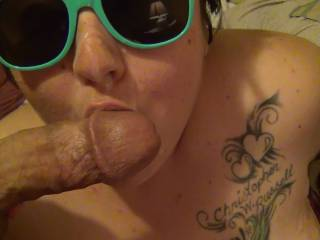 She loves to suck my dick. I gave her this facial blast, as a Thank You.