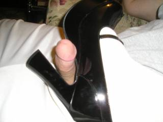 I love these heels and the cock play. My cock is so jealous!!