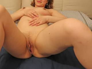 Girl 3:  Sexy girl posing for a photo before getting fucked.  How do you like shaved pussy?