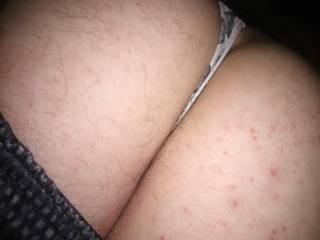 Laying on the couch in my wife\'s thong imaging her catching me right now and using her dildo on my tight little ass