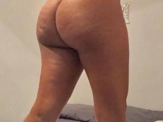Does my ass look like it's getting fatter to you guys? Rub your dick head in between my asscheeks and see if it feels deeper