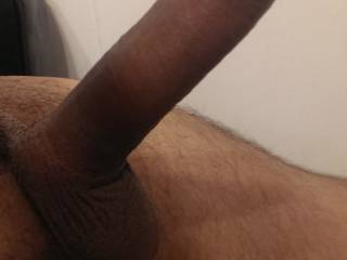 Closeup of my erect cock just waiting to be teased by a tight ass or a wet pussy, maybe buried deep in a mouth