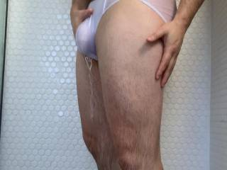 A little screenshot of me gripping my hard young cock in my soaked through white briefs taken from my new video in my private uploads, take a look and let me know what you think.