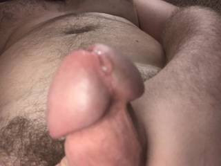 I am so horny my cock is dripping cum