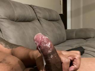 Just finished stroking my cock