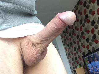 Nice thick hung cock there.. I'd enjoy watching you stretching my sexy wife's pussy with it..
