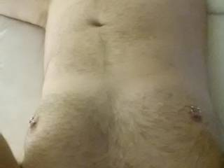 Wow, such a sexy hot view. Please post more pictures of your sexy hot chest and nipples. I would so love that view!!!! Lily
