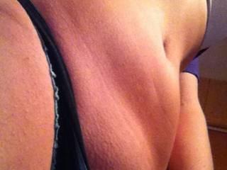 My gf loves sending me pantie pics to get me horny
