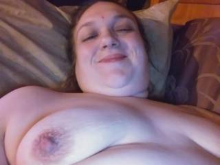 My wife showing off her amazing nipples.